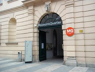 entrance to MuseumsQuartier Wien