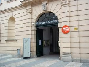 entrance door museum quarter vienna