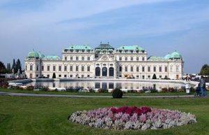 upper Belvedere palace in Vienna Austria